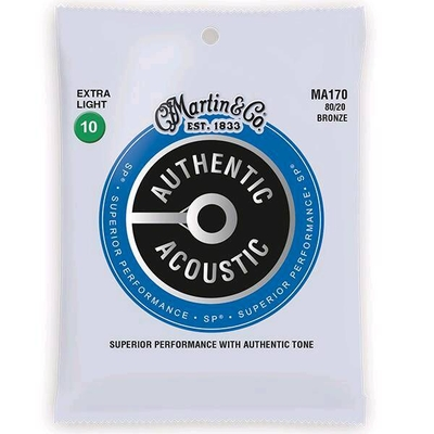 Martin & Co MA170 Authentic Acoustic, SP – 80/20 Bronze .010-.047 – Extra Light