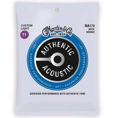 Martin & Co MA175 – Authentic Acoustic, SP – 80/20 Bronze .011-.052 – Custom Light