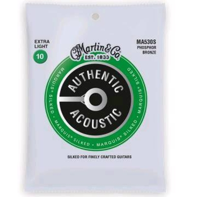 Martin & Co MA530S Authentic Acoustic, Marquis Silked – 92/8 Phos. Bronze .010-.047 – Extra Light