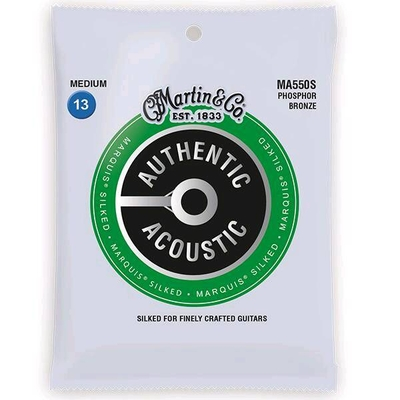 Martin & Co MA550S Authentic Acoustic, Marquis Silked – 92/8 Phos. Bronze .013-.056 – Medium