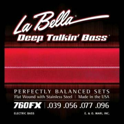 La Bella El. Bass »Deep Talkin» Flatwound Stainless Steel .039-.096 Extra Light