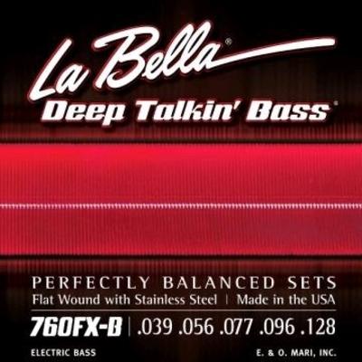 La Bella 5-String »Deep Talkin» Flatwound Stainless Steel .039-.128 Extra Light