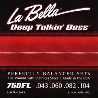 La Bella El. Bass »Deep Talkin» Flatwound Stainless Steel .043-.104 Light
