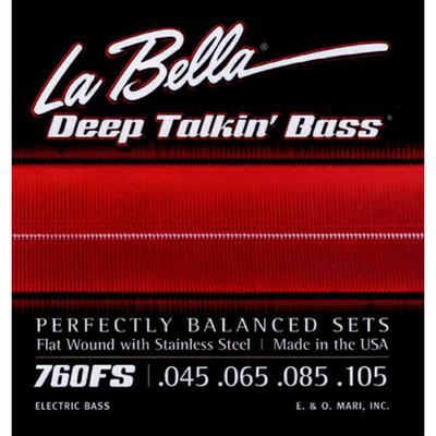 La Bella »Deep Talkin» Flatwound Stainless Steel .045-.105 Standard