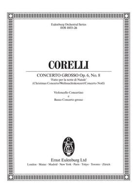 Concerto grosso g-Moll op. 6/8 partie de violons 1 / Arcangelo Corelli / Richard Platt / Breitkopf