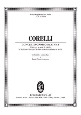 Concerto grosso g-Moll op. 6/8 partie de violoncelles contrebasses / Arcangelo Corelli / Richard Platt / Breitkopf