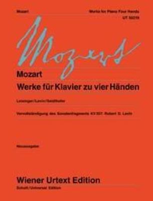Wiener Urtext Edition / Works For Piano 4 Hands / Wolfgang Amadeus Mozart / Bruno Seidlhofer / Wiener Urtext