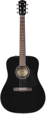Fender CD-60 Dreadnought V3 DS Walnut Fingerboard Black
