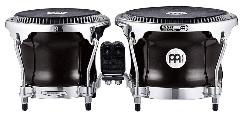 Meinl FFBR400BK 7» & 8 1/2» fiberglass bongo black fiberskyn remo
