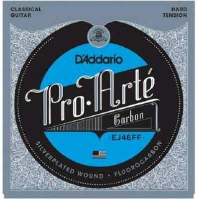 D'Addario PRO ARTE DYNA/CARBON Silverplated .0285-.044 Hard Tension