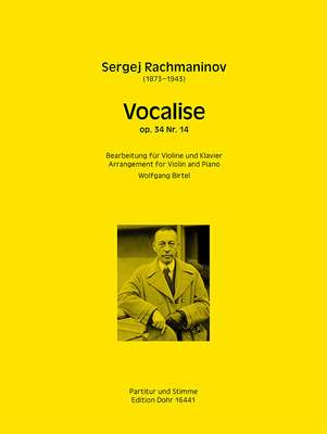 Vocalise op.34/14 Sergei Rachmaninov en la mineur / Sergei Rachmaninov / verlag Dohr
