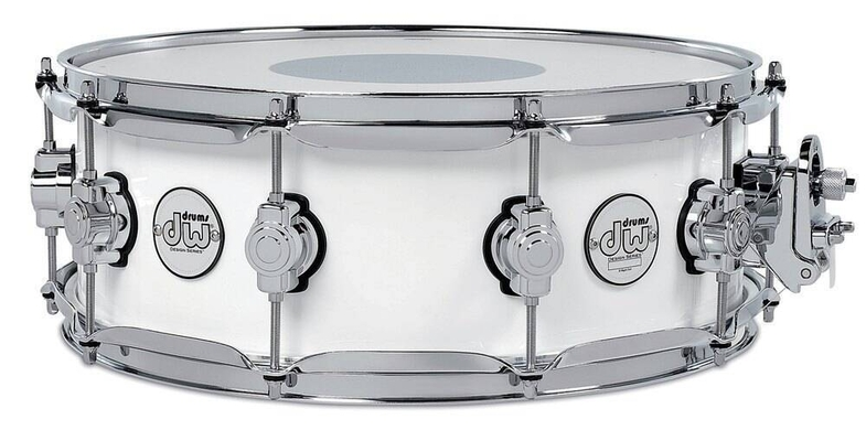 DW Snare drum Design Lacquer 14»x5.5» White Gloss