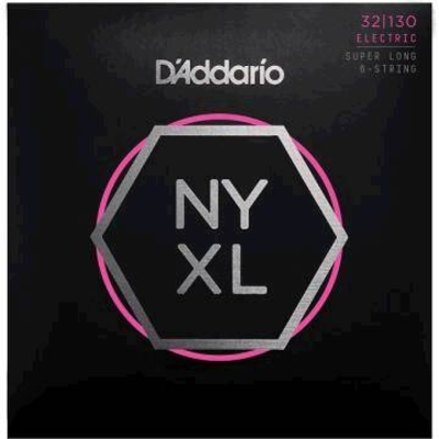 D'Addario NYXL32130 El. Bass 6-String »New York XL» .032-.130 Nickel R/W SUPER LONG SCALE, Regular Light