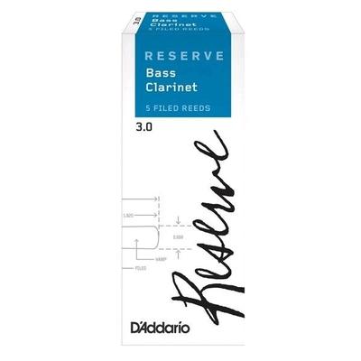 Rico Reserve DER0530 Clarinette Basse #3 Boîte De 5