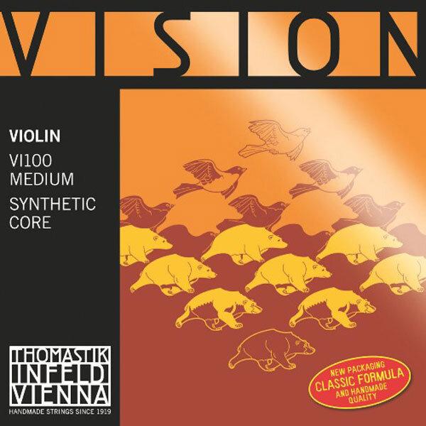 Thomastik Cordes Violon 4/4 VISION jeu synth./argent Moyen : photo 1