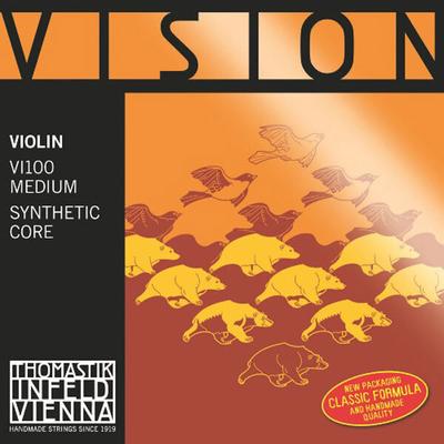 Thomastik Cordes Violon 4/4 VISION jeu synth./argent Moyen