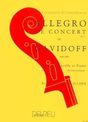 Allegro de concert Op.11 en Si min. DAVIDOFF Karl / Karl Davidoff / Edition Delrieu