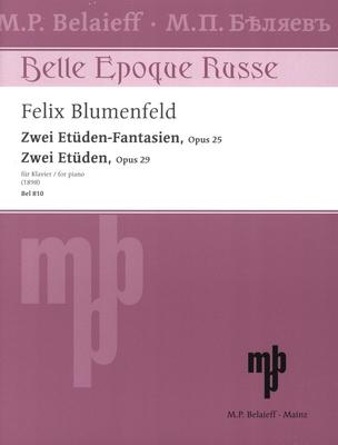 Zwei Etüden-Fantasien – Zwei Etüden op. 25 + 29 für Klavier / Felix Blumenfeld / Belaieff