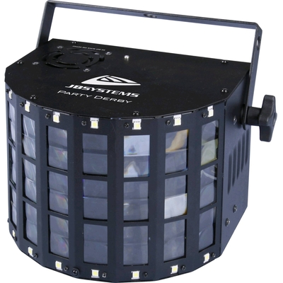 JBSYSTEMS PARTY DERBY – LED Derby 4x 3W led(RGBW) + 16x strobe + IR re