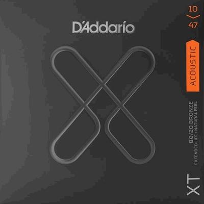 D'Addario Acoustic Guitar Set XT 80/20 Bronze 10-47, Extra Light
