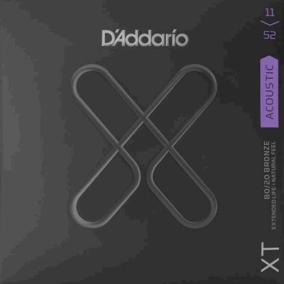 D'Addario Acoustic Guitar Set XT 80/20 Bronze 11-52, Custom Light