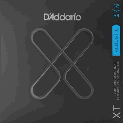 D'Addario Acoustic Guitar Set XT Phosphor Bronze 12-53, Regular Light