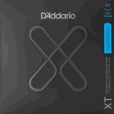 D'Addario Classical Guitar Set XT Composite, Silverplated Copper 29-46, Hard Tension
