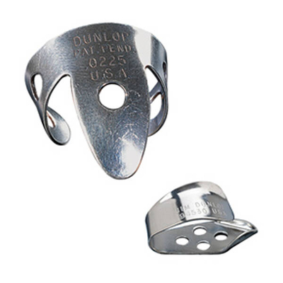 Dunlop 33P.015 Fingerpicks 4 & Thumbpick 1 Player Pack,  Nickel Silver .015 Bag of 5