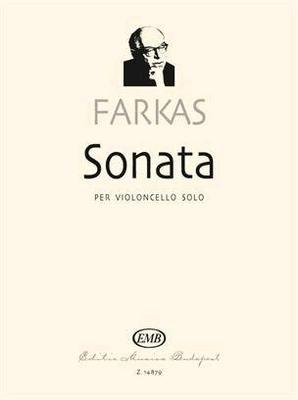 Sonata per Violoncello Solo In preparation / Ferenc Farkas / EMB Editions Musica Budapest
