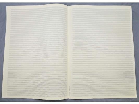 Papier musique 44 portées par lot de 5 feuilles A3Gropartitur Notenschreibpapier 44 Systeme DIN A3 – 5×1 Doppelbogen /  / STAR Notenschreibpapiere