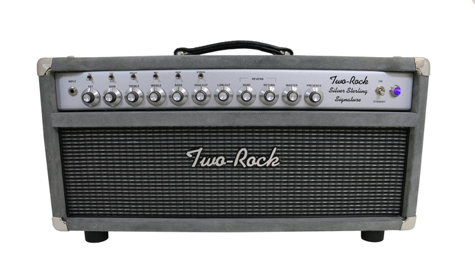 Two-Rock Silver Sterling Signature 100 Watt Head, Silver Anodize, Grill and Knobs, Grey Suede finish