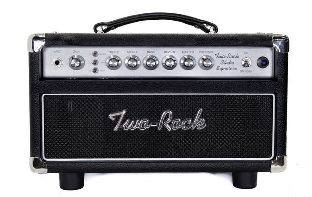 Two-Rock Studio Signature 35 Watt Head, Silver Anodize, Black Bronco