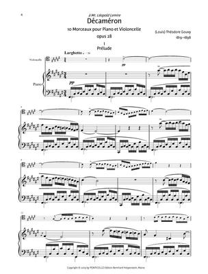 Décaméron Für Violoncello und Klavier Teil 1 / (Louis) Théodore Gouvy / Ponticello Edition