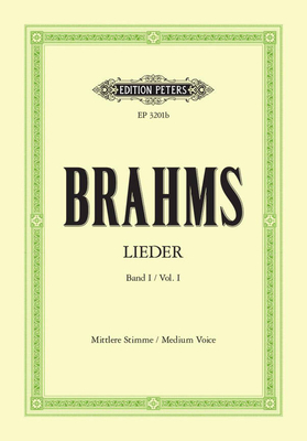 Complete Songs – Volume 1  Johannes Brahms  Vocal and Piano Buch Klassik EP3201B / Johannes Brahms / Peters