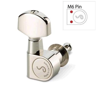 Schaller SC-M6-PIN-3L3R-NI Schaller Mechanik M6 Pin, 3 links / 3 rechts, NICKEL, solid headstock