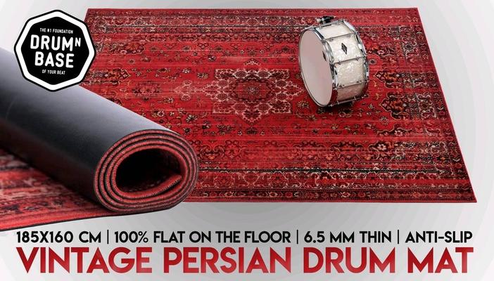 Drum N Base Vintage Persian Drum Mat Bonham Red 185×156 Cm
