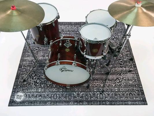 Drum N Base Vintage Persian Drum Mat Bonham Grey 185×156 Cm