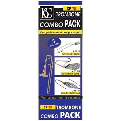 BG BG-CPTB BG Combo Pack, 3 écouvillons pour trombone à coulisse