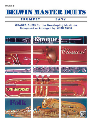 Belwin Master Duets (Trumpet), Easy Volume 2  Keith Snell  Trumpet Buch Schule 00-EL03648 / Keith Snell / Belwin