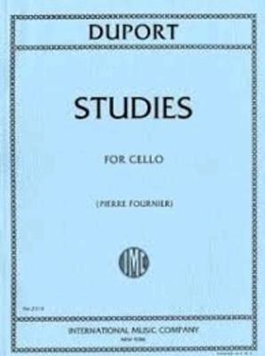 21 études de Duport (Fournier)21 Studi (Fournier)  Jean-Louis Duport  Cello Buch  IMC 2314 / Jean-Louis Duport / International Music Co.