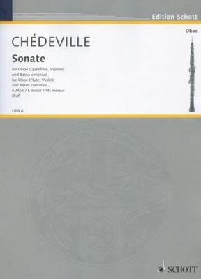 Sonate E   Nicolas Chédeville  Oboe und Klavier Buch  OBB 6 / Nicolas Chédeville / Hugo Ruf / Schott