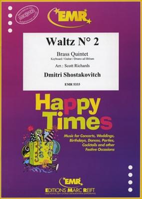 Waltz N 2  Dimitri Shostakovich Richards 2 Trumpets, Horn, Trombone and Tuba Partitur + Stimmen  5333 / Dimitri Shostakovich / Editions Marc Reift