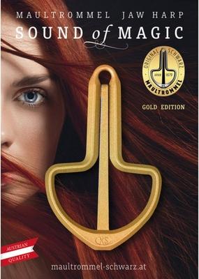 Original Schwarz Guimbarde Golden Star Jew's Harp Golden Star Maultrommel Golden Star 82mm, Nr. 15
