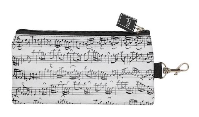 Vienna World Trousse portées blanchePencil Case – Line Of Notes, White     Schreibmaterial  T 828