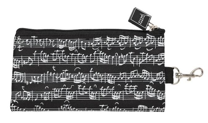 Vienna World Trousse portées noirePencil case line of notes black     Schreibmaterial  T 826
