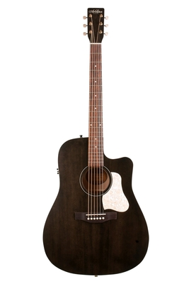 Art & Lutherie Dreadnought »Americana» Faded Black with Godin QIT & Cutaway