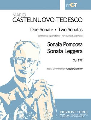 Due Sonate per tromba e pianoforte op. 179 Sonata Pomposa – Sonata Leggera Mario Castelnuovo-Tedesco  Trompete und Klavier Buch  011936EC / Mario Castelnuovo-Tedesco / Curci Milano