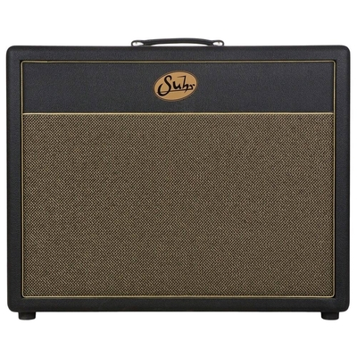 Suhr Guitars 2×12 Cabinet, Black tolex, Gold grill, Warehouse Veteran 30 speakers