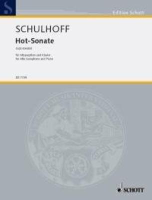 Hot Sonate  Erwin Schulhoff  Altsaxophon und Klavier Buch Jazz ED 7739 / Erwin Schulhoff / Schott