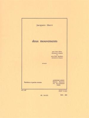 Deux Mouvements – MCMXXII  Jacques Ibert  Bläserquartett Buch Lehrhilfsmittel AL16633 / Jacques Ibert / Leduc